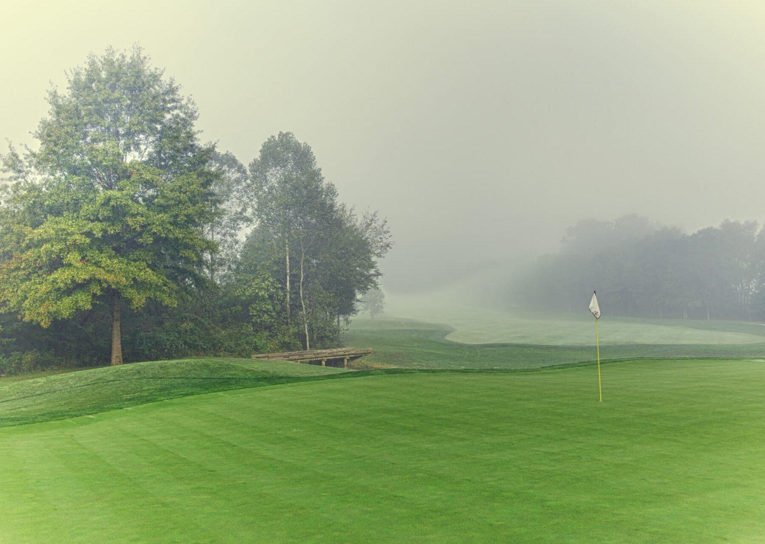 mist over creighton farms golf course