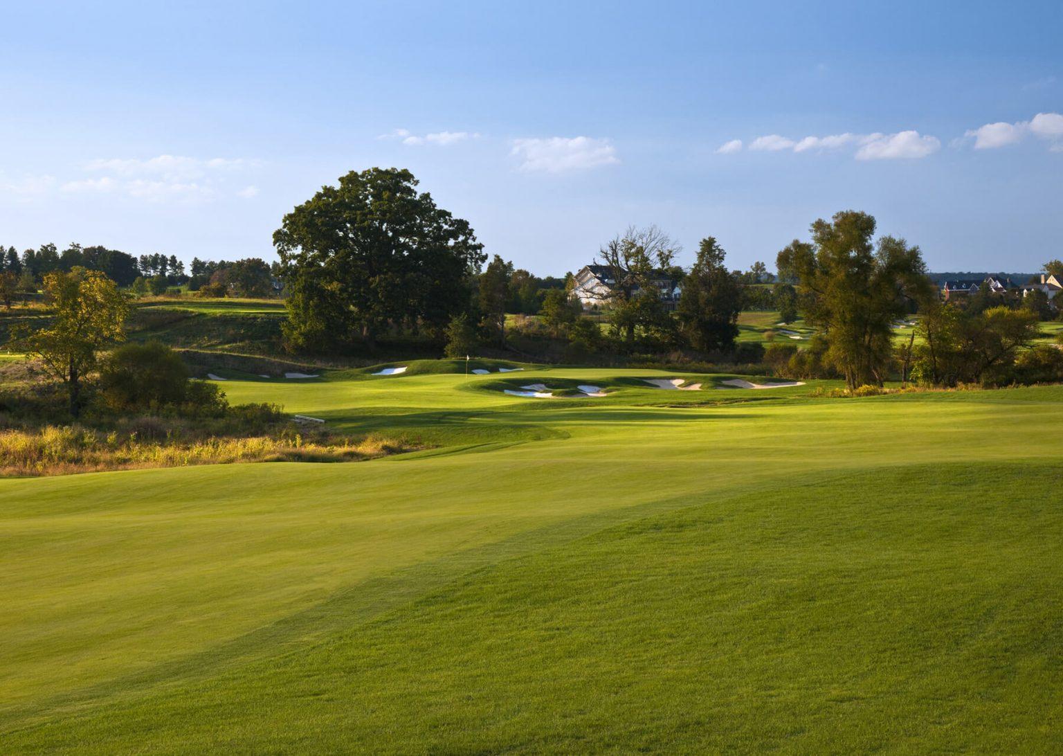 beautiful golf course fairway