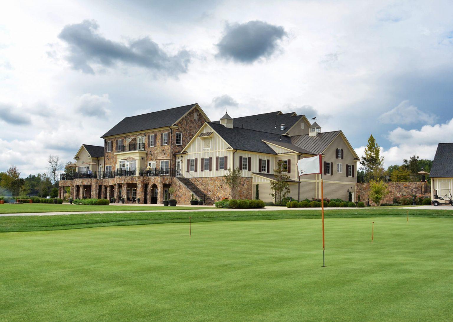 golf course practice green