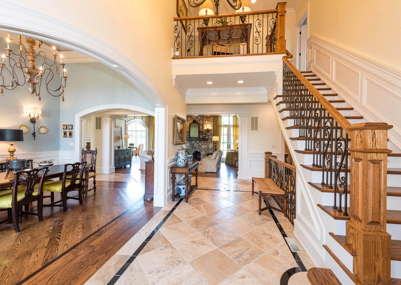 custom home entryway