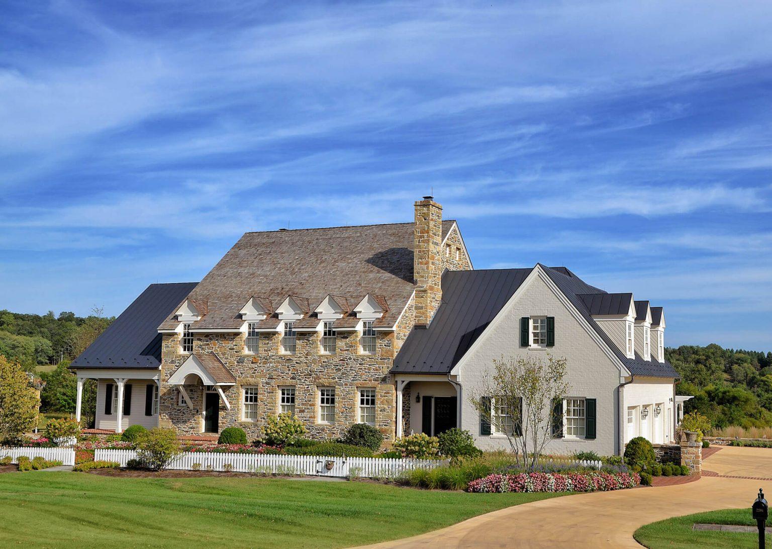 custom stonework home