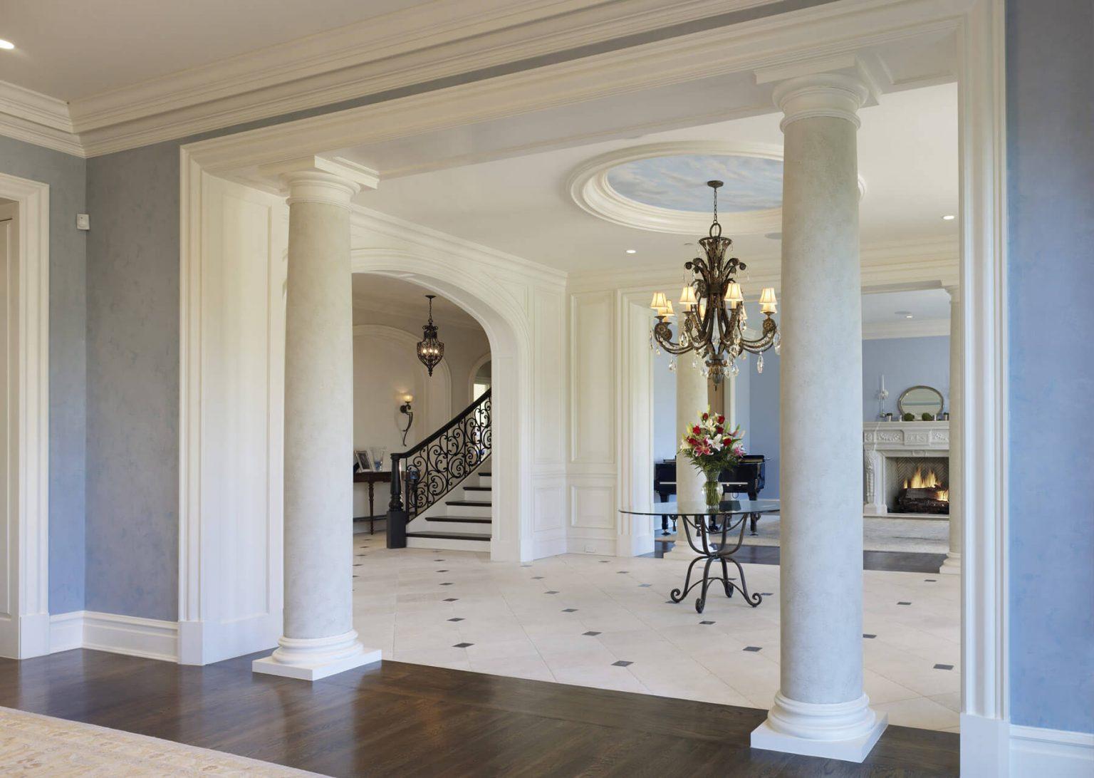 custom entryway with columns