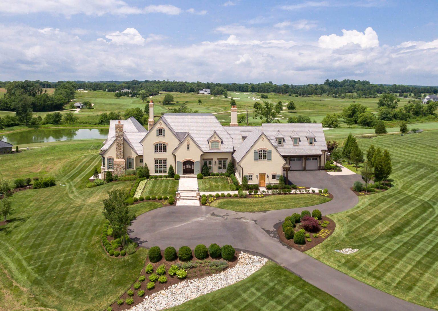 large landscaped estate home northern virginia