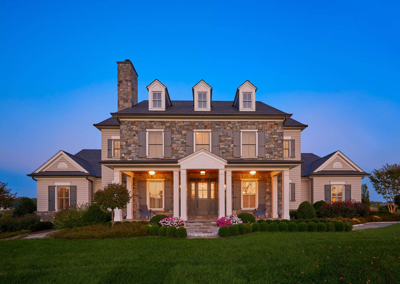 custom north virginia home in gated community